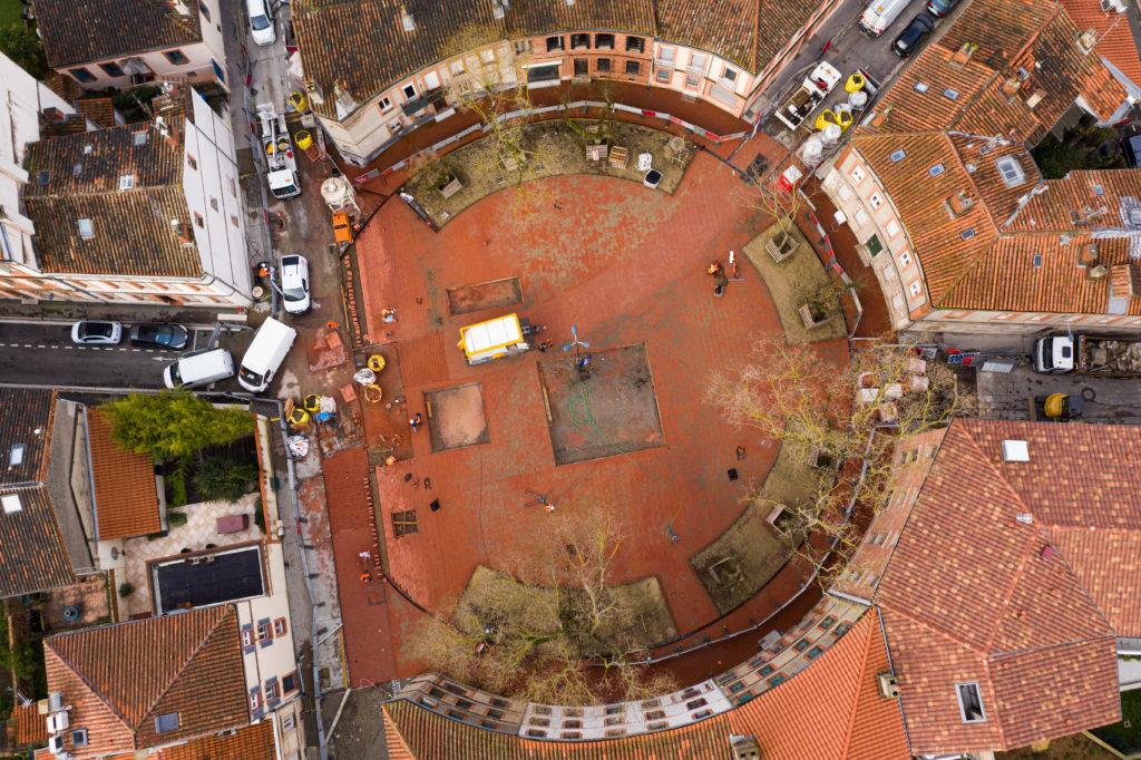 Place Arago vue de haut
